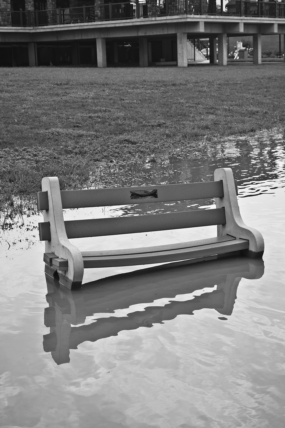 Empty Bench facing the Susquehanna River
