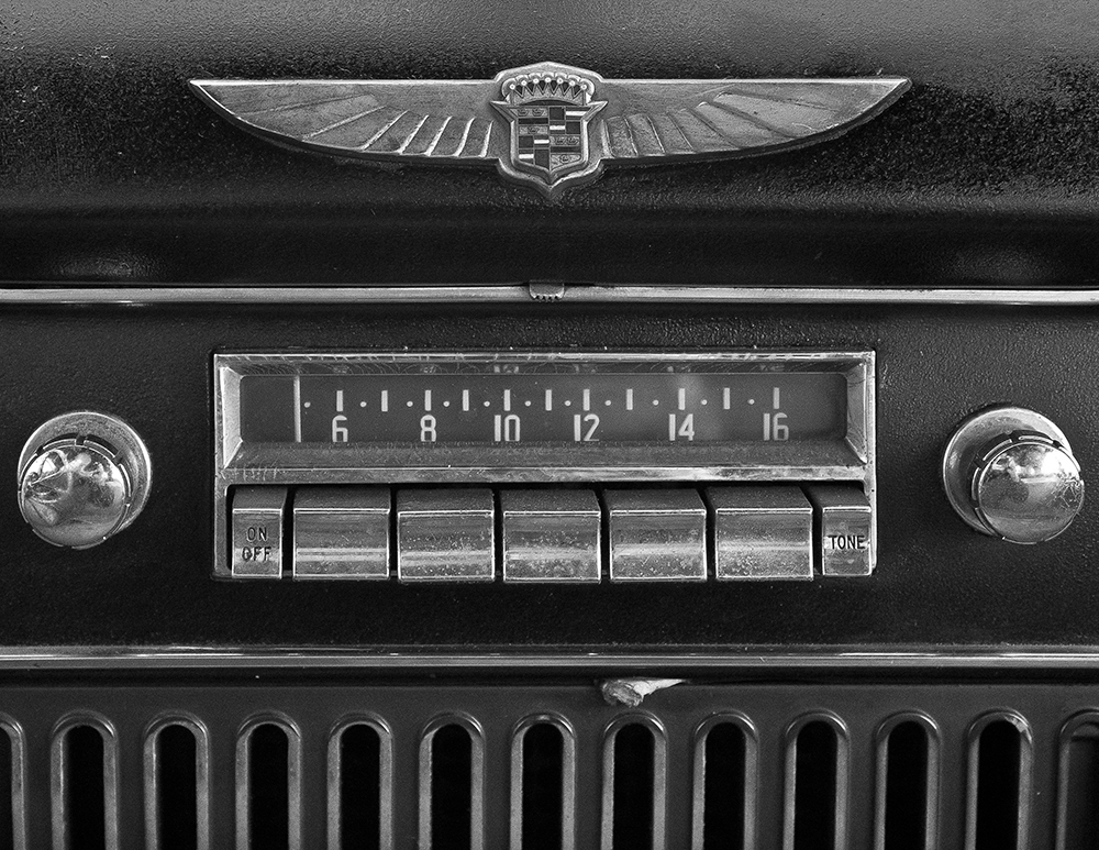 Old Cadillac radio