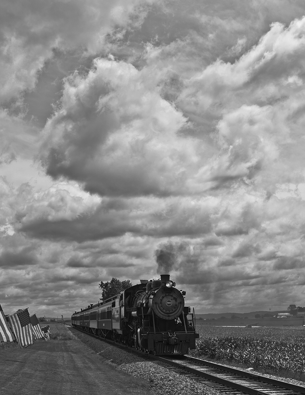 Clouds and train (obviously)